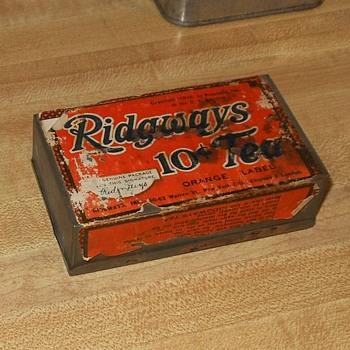 Ridgway 10 Cent Tea Tin 1916