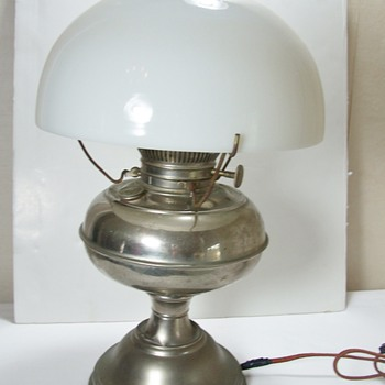 Antique Rayo Kerosene Lamp electrified