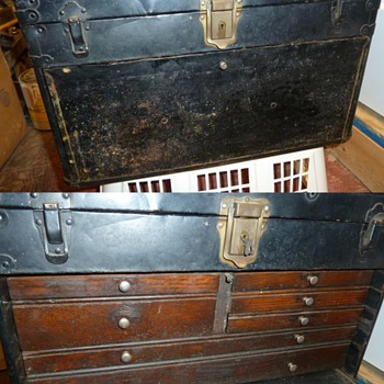 Found a old wood & metal tool box - Tools and Hardware