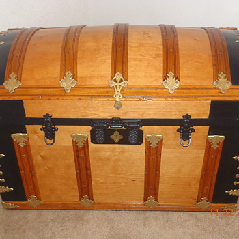 Restored/Refinished Barrel Top Trunk - Victorian Era