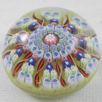 Millefiori Paperweight  - Art Glass