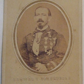 CDV of Military Man with medals