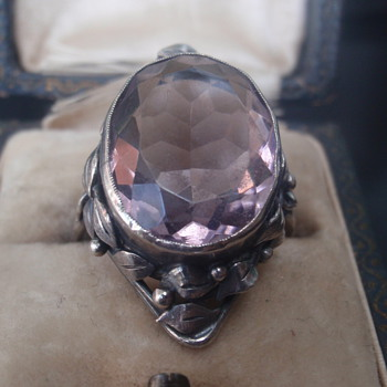 Arts & Crafts Amethyst Ring - Wager - Arts and Crafts