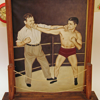Vintage painting of two boxers