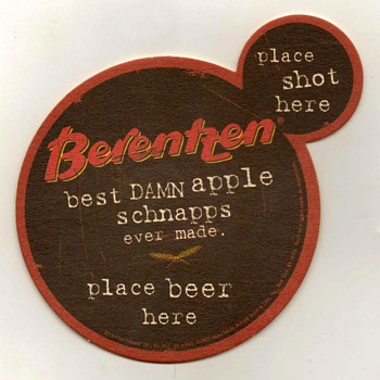 """Berentzen Apple Schnapps"" - Bar Coaster"