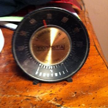 1970 toyota promotiomal thermometer - Advertising
