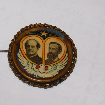 1908 Wm Jennings Bryan / John Kern Button - Medals Pins and Badges