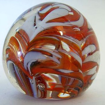 Art Glass Paperweight ( Made in INDIA ) Label