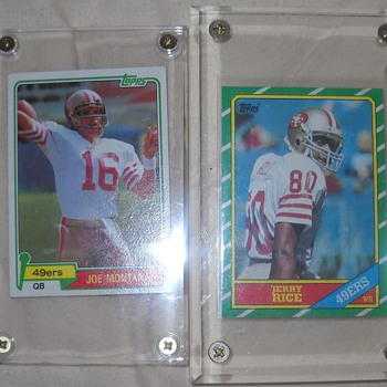 Joe Montana and Jerry Rice Rookie cards, Frank Gifford and Tony Dorsett  - Football