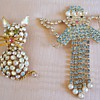 ENGLAND&#039;S FINEST CAT &amp; ANGEL RHINESTONE BROOCHES