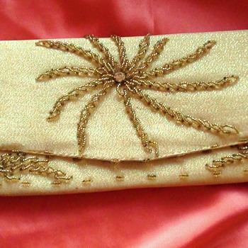 LE SOIR BAG GOLD BEADED LOOKS LIKE 1950's It is French?? or What Country Is it??