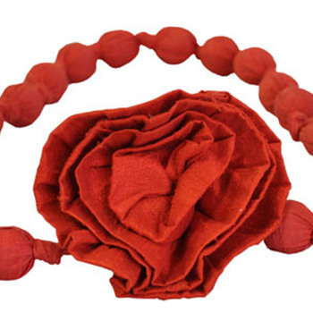 Silk Rosette Knotted Belt - Accessories