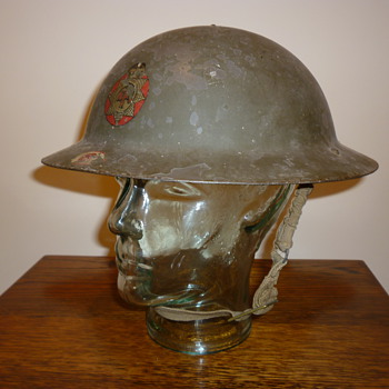British WWII National Fire Service steel helmet