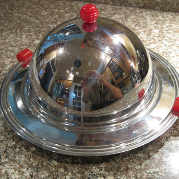 1950's Deco Covered Hors d'oeuvre' Server
