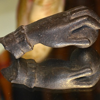 Very Old 'Hand of Fatima' Iron Door Knocker from Uruguay