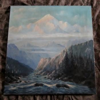 Antique Oil Painting - Visual Art