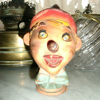 "Old puppet head ""Pinocho""."