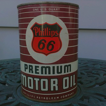 "Phillips ""66"" Premium Motor Oil Can"