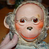 Vintage monkey doll with moving eyes