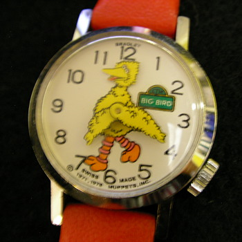 Circa 1980 Big Bird (animated head) Wristwatch - Wristwatches