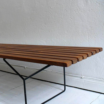 harry bertoia bench - Mid-Century Modern