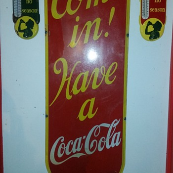 1939 Lg Coca-Cola Porcelain Sign