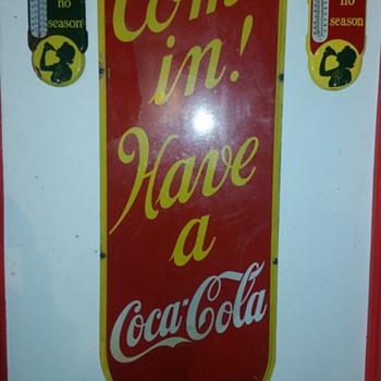 1939 Lg Coca-Cola Porcelain Sign