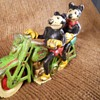 Cast Iron Mickey and Minnie Mouse Motorcycle