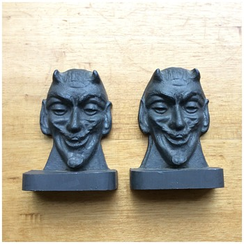 Lead Devil Mephistopheles Bookends - Books