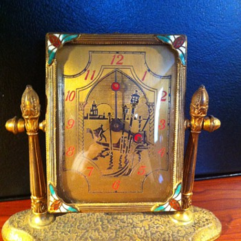 Unusual Silvercraft clock - Clocks