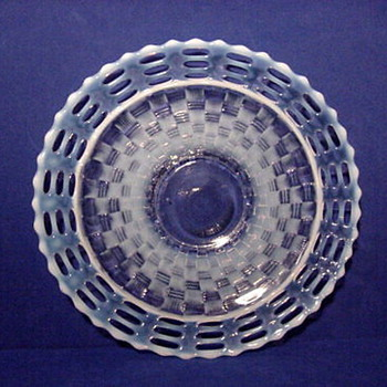 Fenton triple open edge bowl.