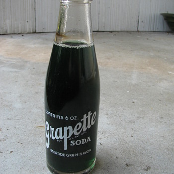 A six ounce grapette bottle 1939