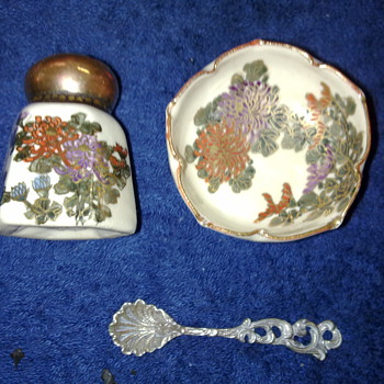 oriental pepper pot and salt bowl - Art Pottery