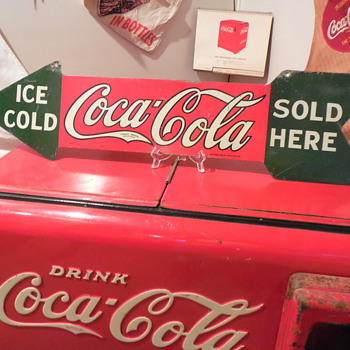 1927-1929 Coca-Cola Arrow Sign - Coca-Cola