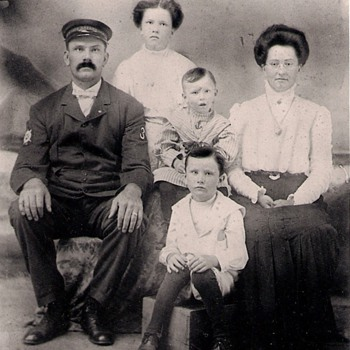 Great grandparents with their children (U. S. Life Saving Service uniform on great-grandfather) - Photographs