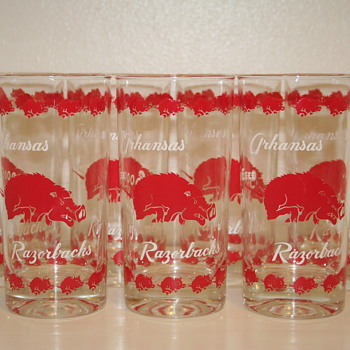 Arkansas Razorback Drinking Glasses - Glassware
