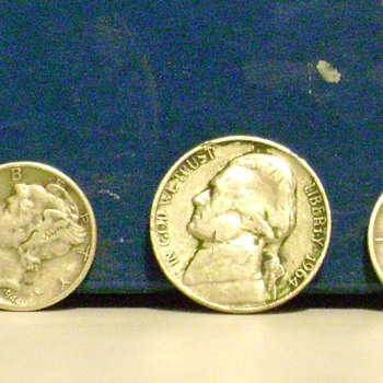 Mercury Dimes and Nickel - US Coins