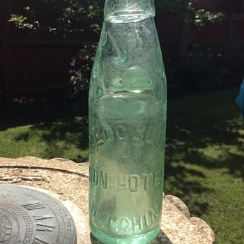 Brewery bottle from E Logsdon 1800's ?