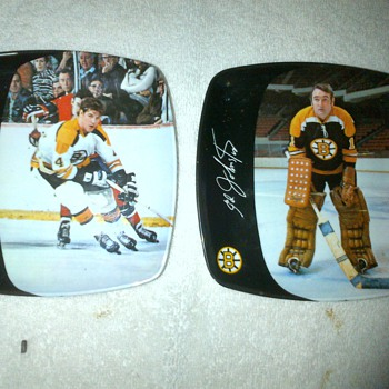 1970 Bobby Orr and Ed Johnson Boston Bruins Plates - Hockey