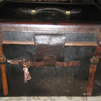 Antique Lady's Hat Trunk From England
