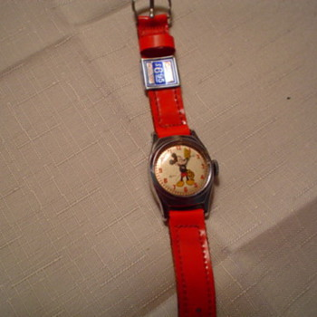 Smaller Round Ingersoll Mickey Mouse Wristwatch