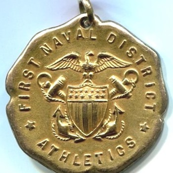 First Naval District Athletics Medal 1919 - Military and Wartime