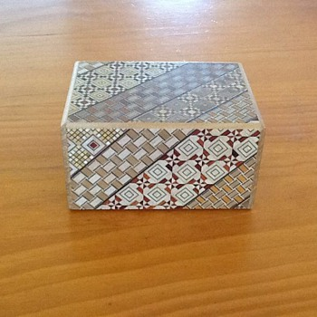 Japanese Puzzle Box - four compartments - Asian