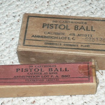 PISTOL BALL 45 CALIBER ammo from 1944