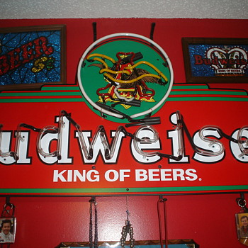 budweiser neon sign