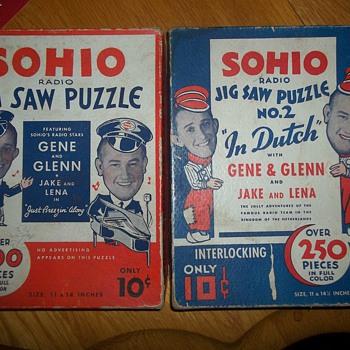 1933 SOHIO PETROLEUM PUZZLES - Games