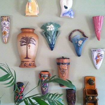 Wall Pockets - Art Pottery