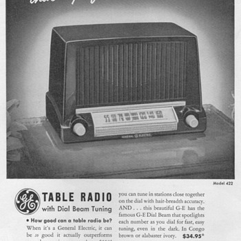 1951 - General Electric Model 422 Radio Advertisement - Advertising
