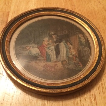 Antique French Etching - Visual Art