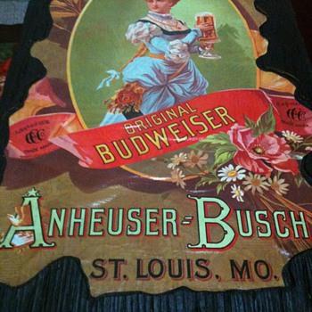Budweiser wall hanger - Breweriana